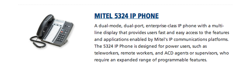 Mitel 5324 Traditional IP Button Phone
