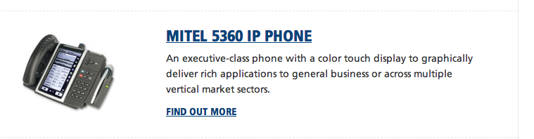 Mitel 5360 IP Application Phone